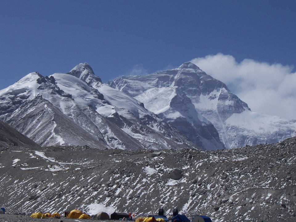 Everest base camp in Tibet.