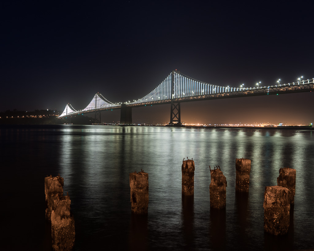 June, 2016 - Bay Bridge at Night, San Francisco, CA