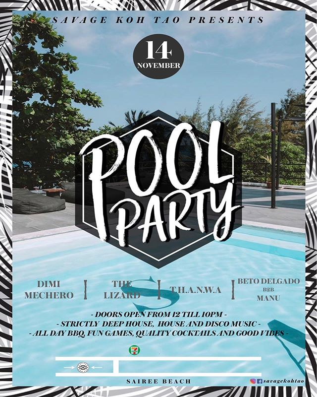 🌴☀️SAVAGE POOL PARTY☀️🌴 - - This thursday we are having an all day pool party. Good music, food, cocktails, games and more! Follow the stairway to heaven and see you on the roof🔝😎