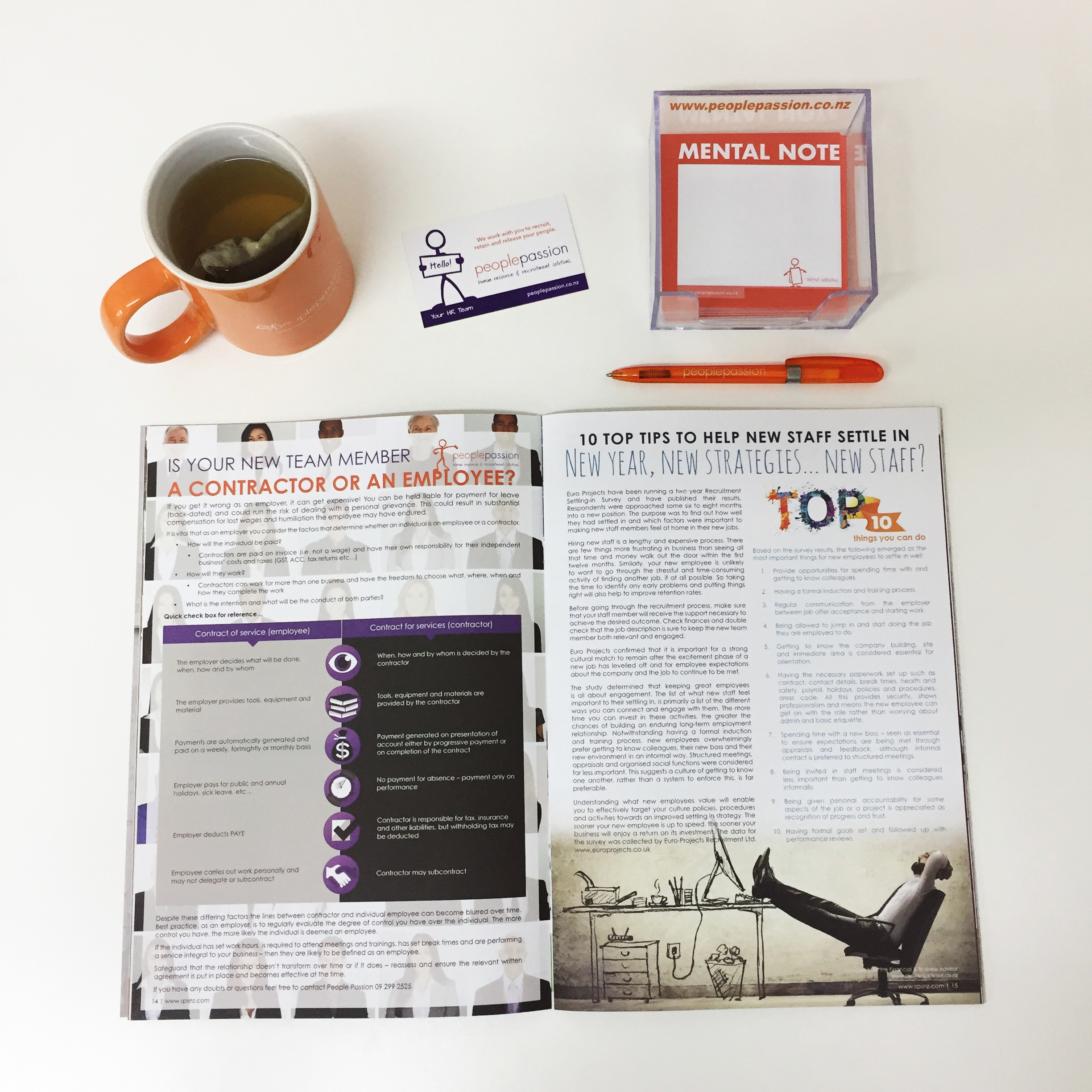 Promo items and article 2016