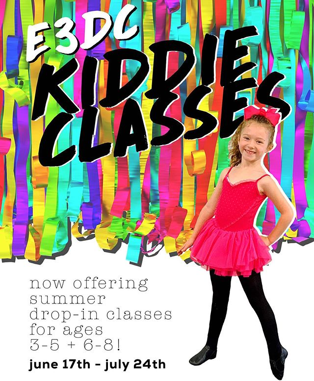 🌟COME ONE, COME ALL! 🌟 We are super excited to be offering dance classes this summer for ages 3-8!  Email us for more info! Let's dance, kiddies! 🙌🏽🖤 . . . . . . . . #E3DC #E3 #mindbodysoul #dancespiritmagazine #dancer #instagramfordancers #danceclass #dancers #danceshoes #dancerecital #ballet #chicagodance #dancelife #dancestudio #choreography #sportsman #dancefloor #championship #justdance #sportphoto #contemporarydance #fitness #actionphotography  #midwestmoment #insta_chicago #dancersofinstagram #dancegoals #traininsane