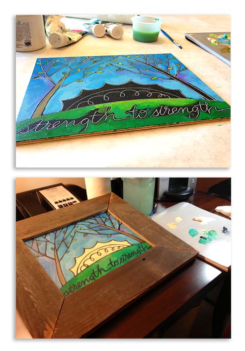 Strength to Strength 8 x 10 acrylic on wood panel