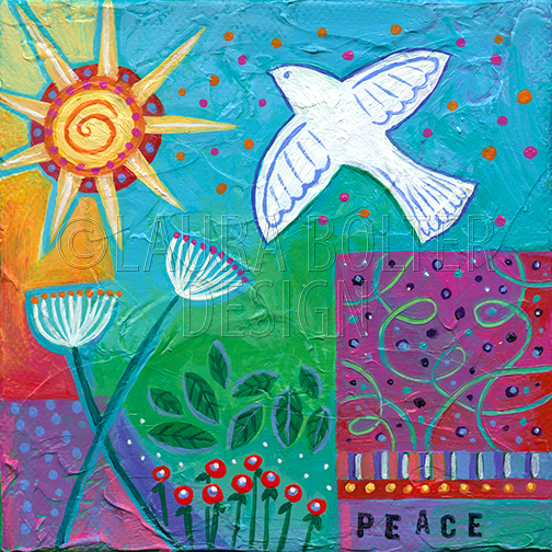 Peace Whimsy by Laura Bolter Design