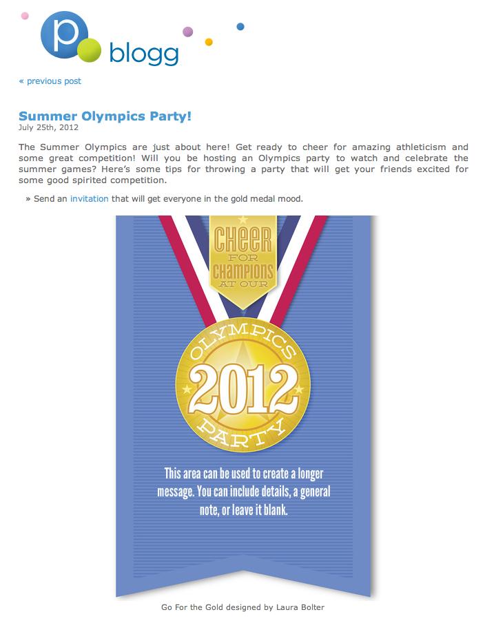 Pingg Blog Gold Medal invitation