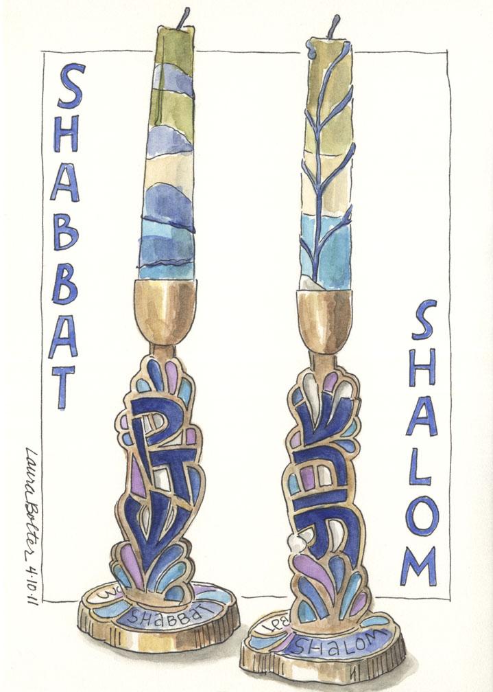 Shabbat Candle Sticks