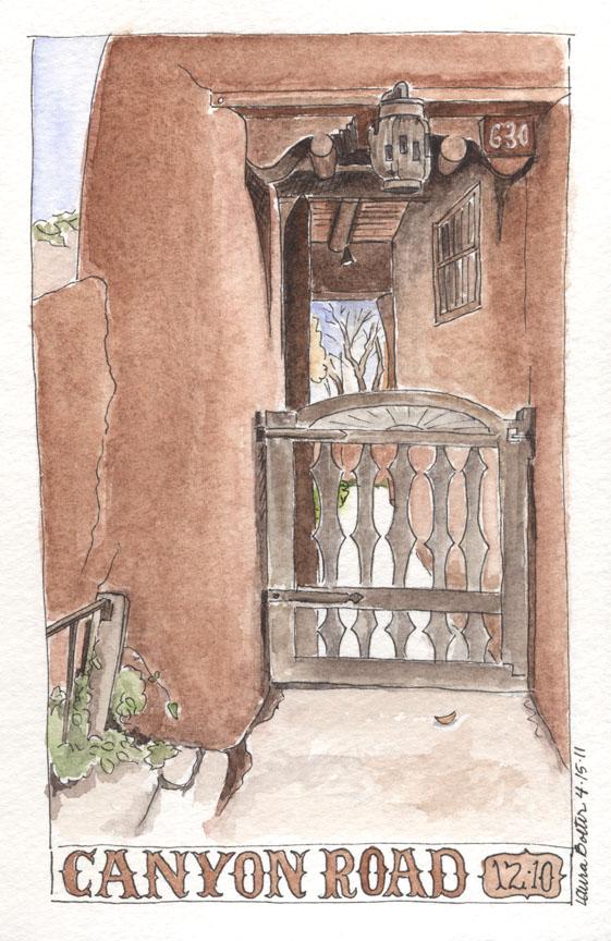 Canyon Road Gate