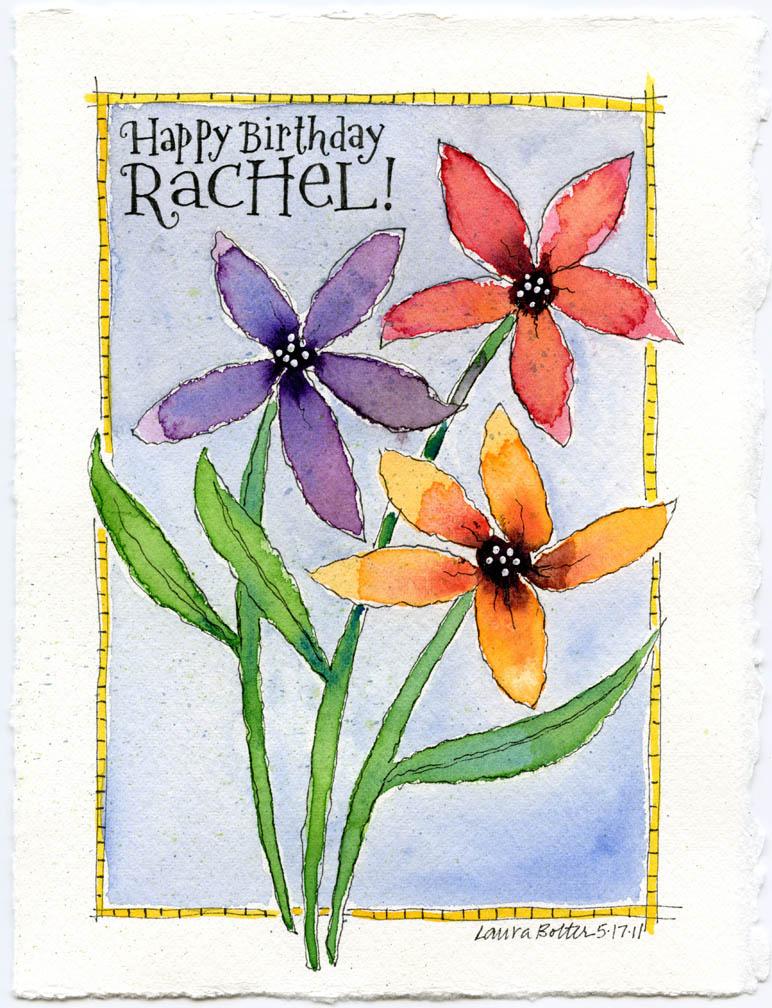 Color Drop Flowers for Rachel