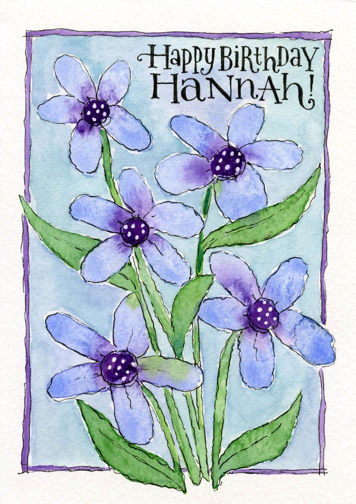 Hannah's Birthday Card