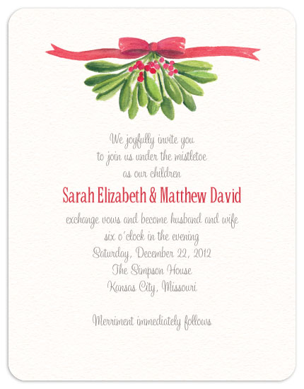 Mistletoe Wedding