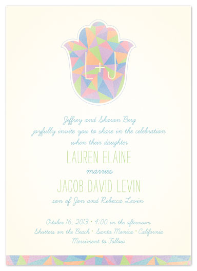 Triangle Hamsa Wedding Invitation