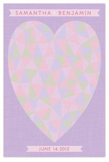 Triangle Heart Wedding Guest Book Alternative