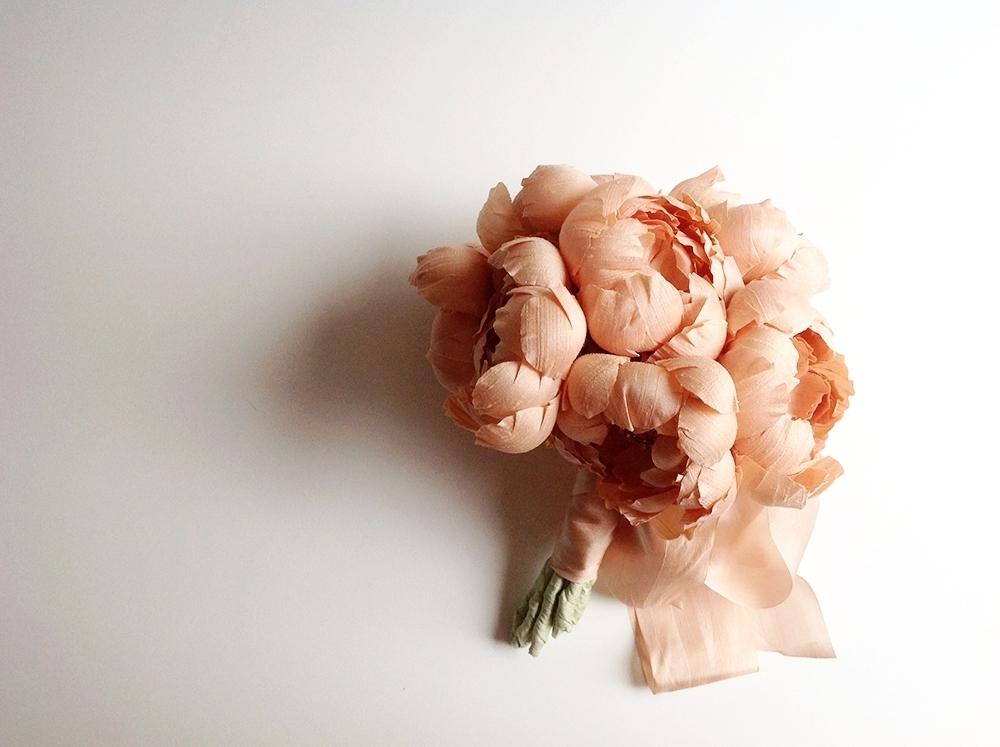 petite peony silk bouquet