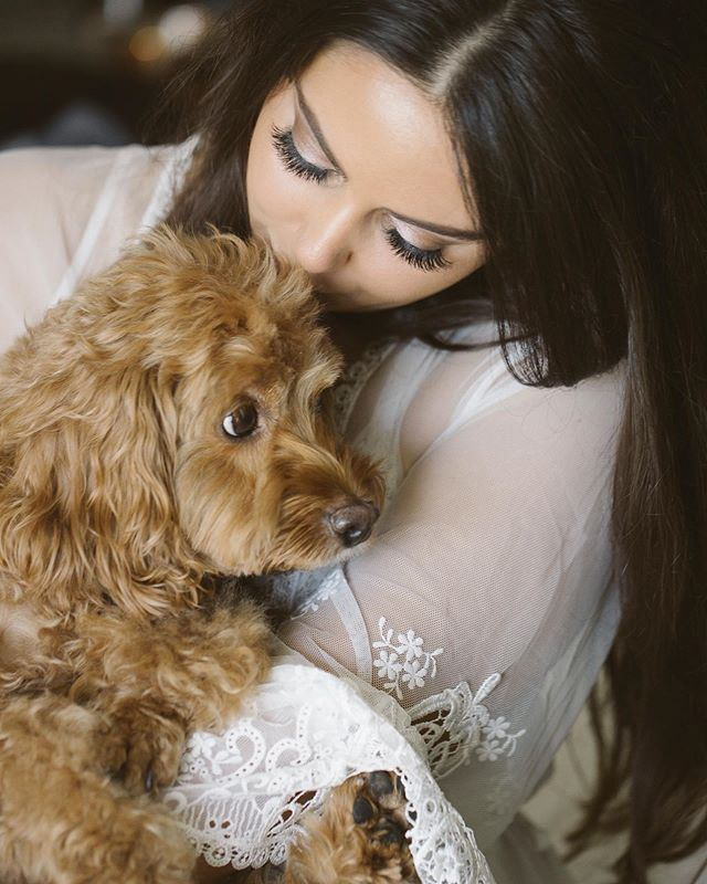 A girl & her dog, oh I can relate. More wedding peeks coming soon Nicolle & Justin! xo