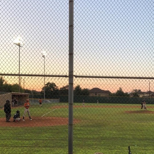 Diamond players Caleb, Luke B, and London playing well at the Westwood / McNeil summer baseball game. 3 hits in the same inning for the trio.
