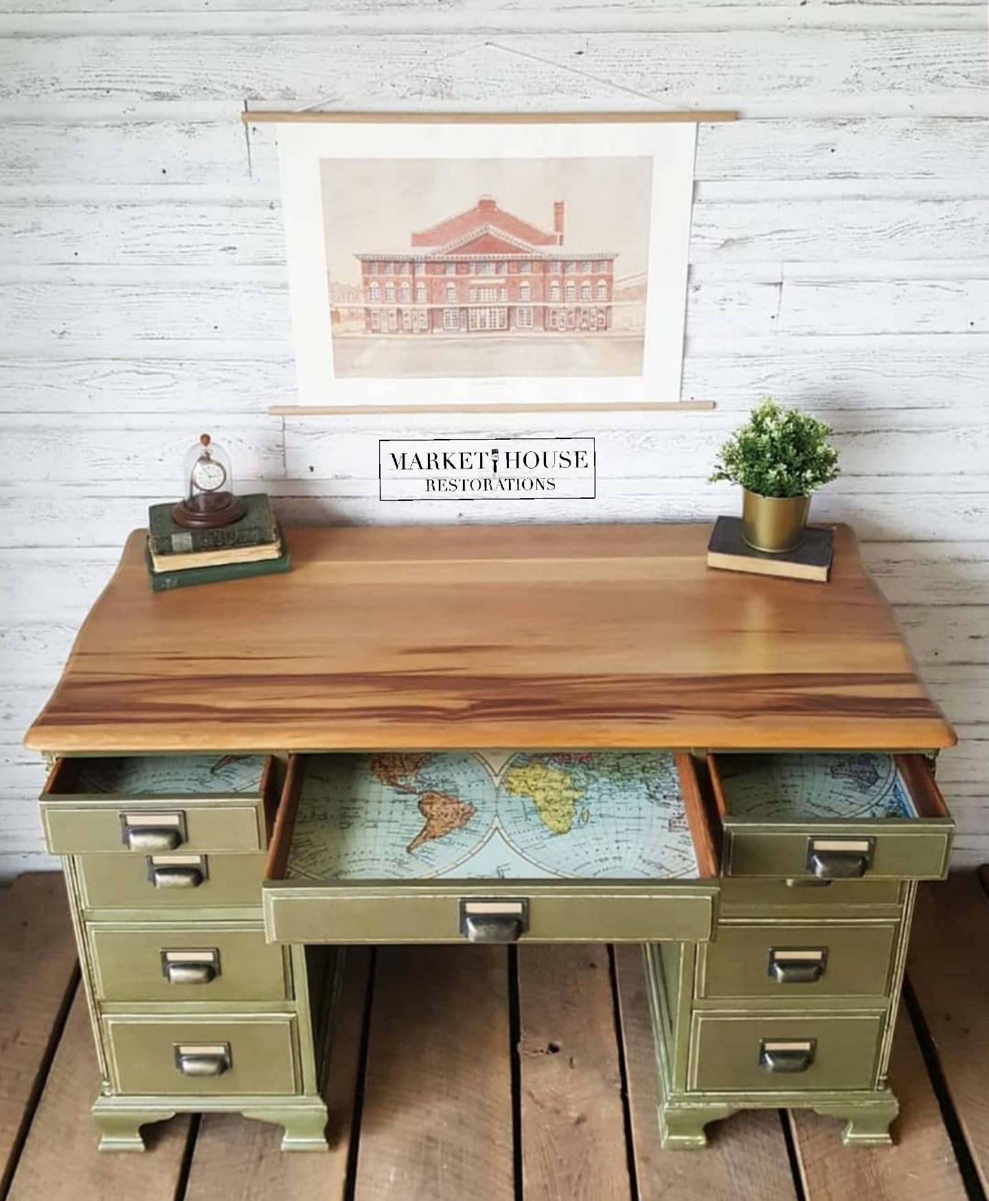 Trash to Treasure! - A friend of mine saw this desk in a trash pile, sent me a picture and then put it in her driveway until we could pick it up. About an hour later my husband went and picked it up for me and the rest was history!See before-and-after pictures and the process below…