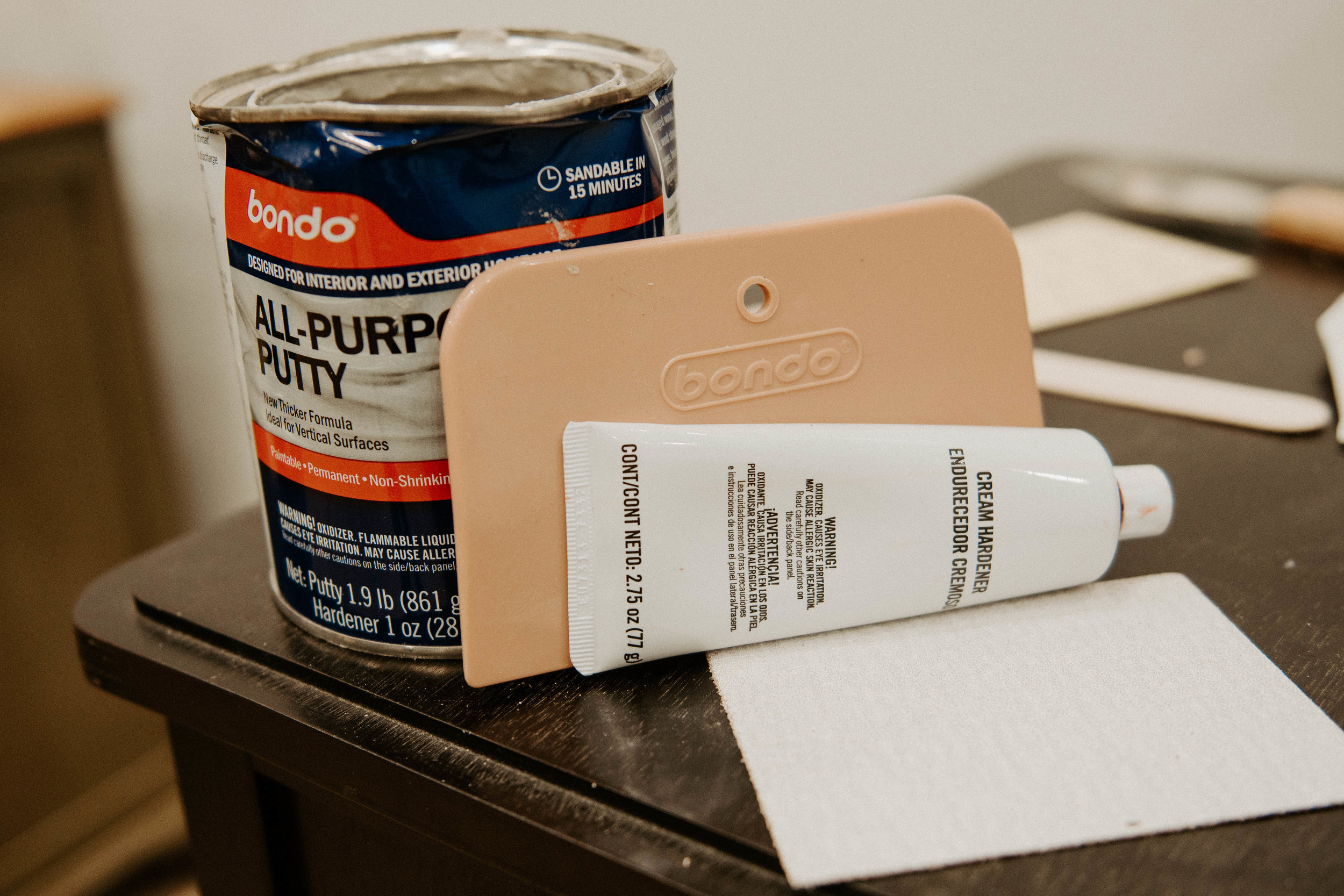 How To Fix Flaws In Wood Furniture With Bondo