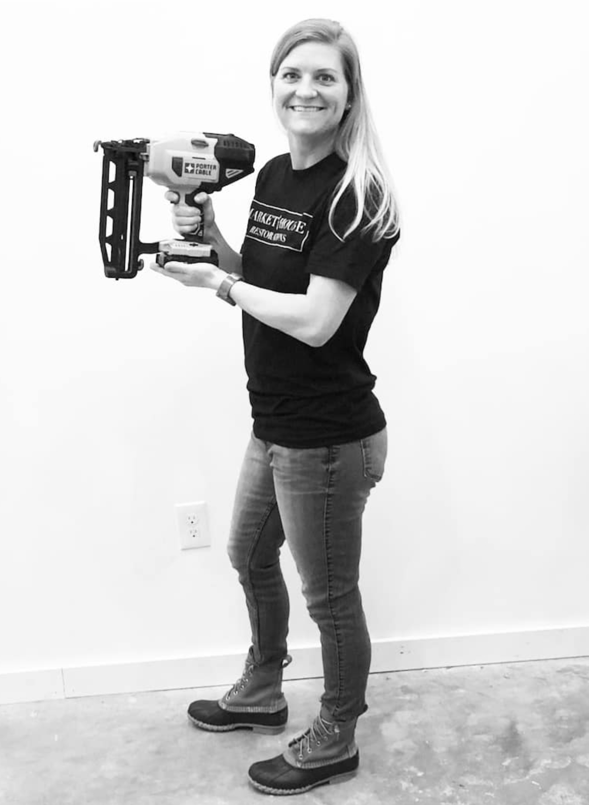 #FridaysWithFallon - Today I'm sharing one of my favorite tools! This cordless brad nailer is a game changer! No hose, air compressor or electricity involved. It's perfect for restoring furniture because it doesn't put out too much power like an industrial nail gun. We use it all over the house, too! Click HERE for my affiliate link!