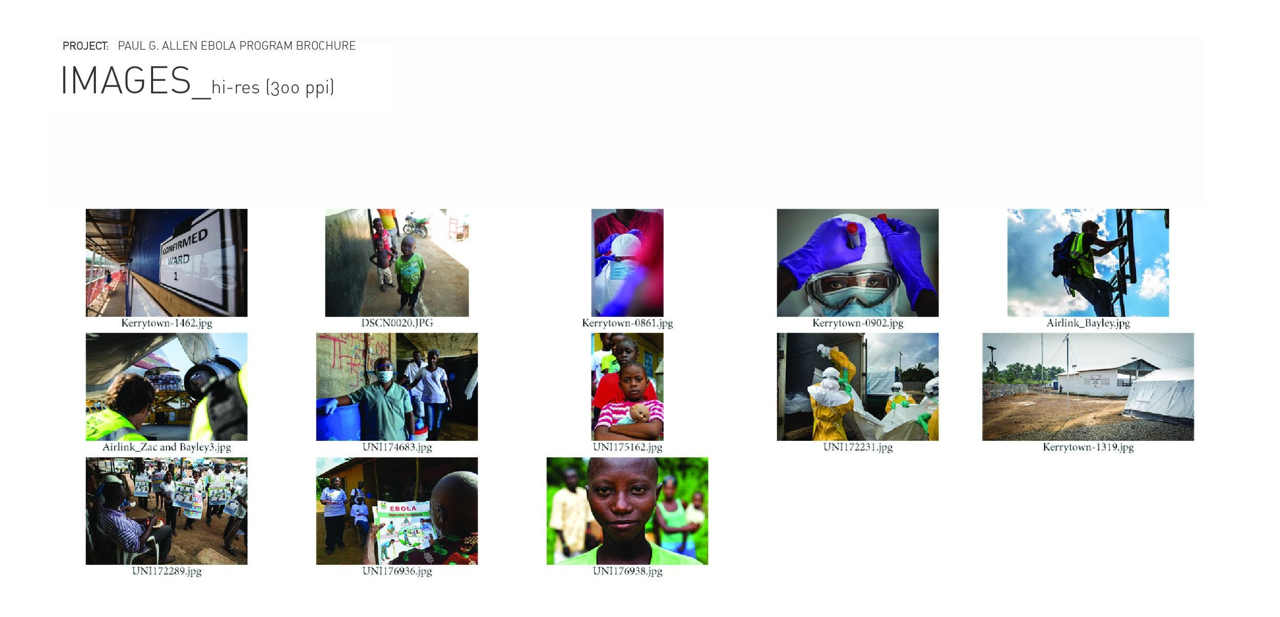 All the photos were shot in the field during the Ebola crisis, under varying conditions. After reviewing the shots and selecting the best images, I decided to design photo illustrations as a supporting element to the primary photography adding more depth and texture. The client was surprised and thrilled by this move.