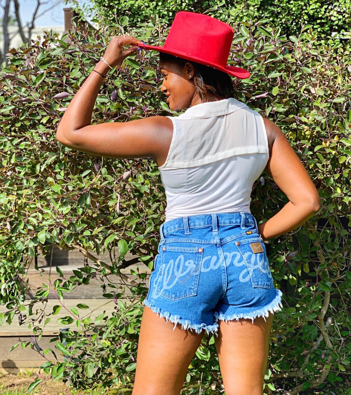 Wrangler Shorts on Brittany Noelle
