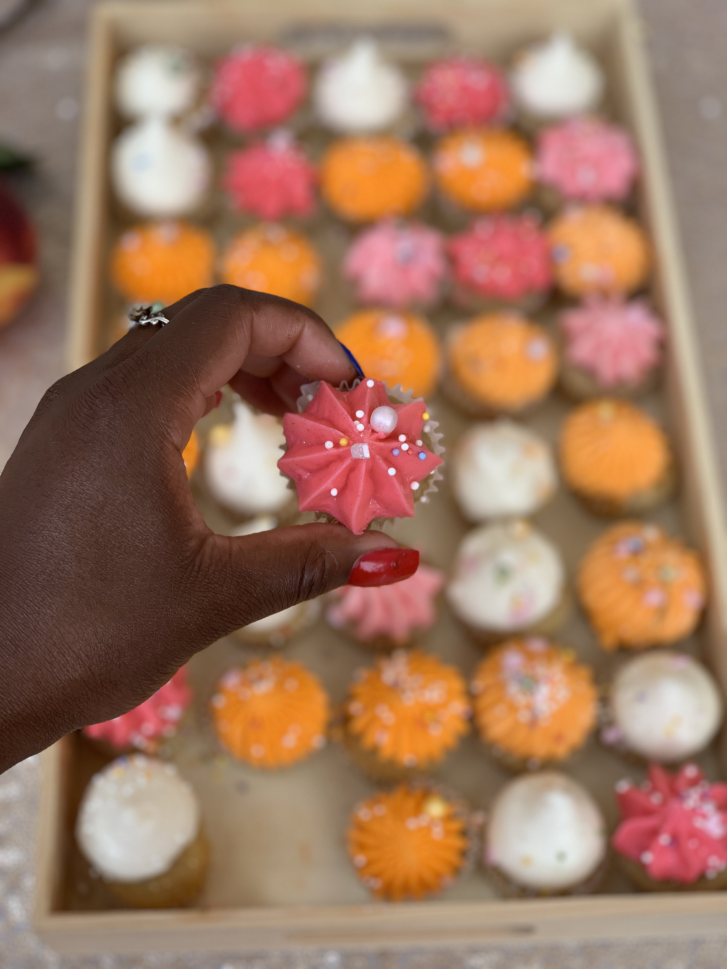 Peaches Bake Shop Vegan Champagne Cupcake