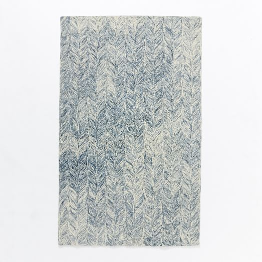 Vines Wool Rug, Blue Lagoon