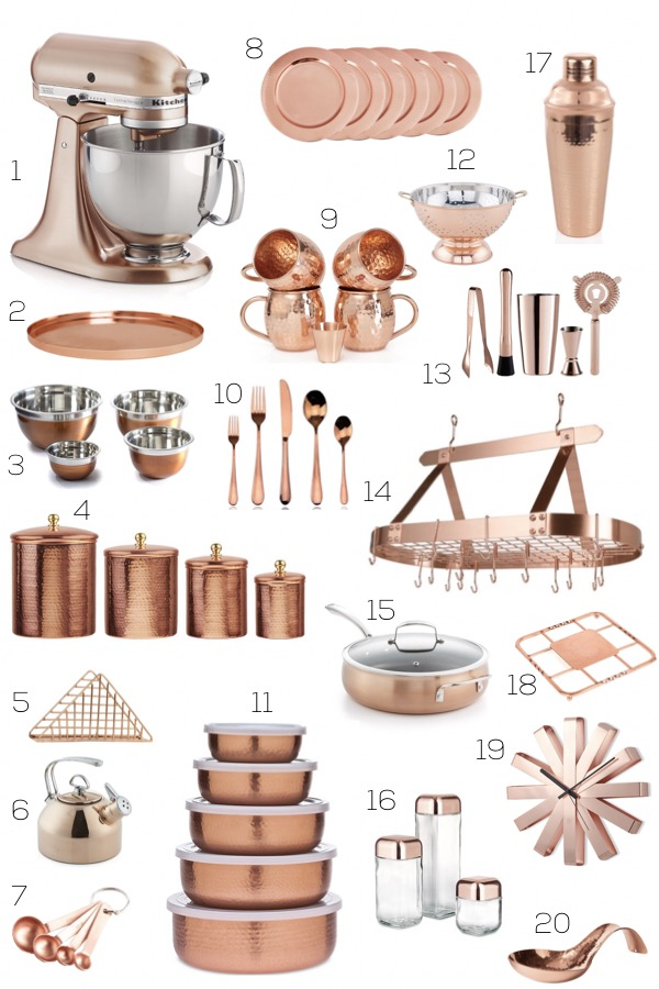 Albie Knows Copper Kitchen Accessories Shopping Guide