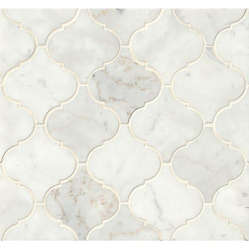Marble Mosaic Tile in White Carrara