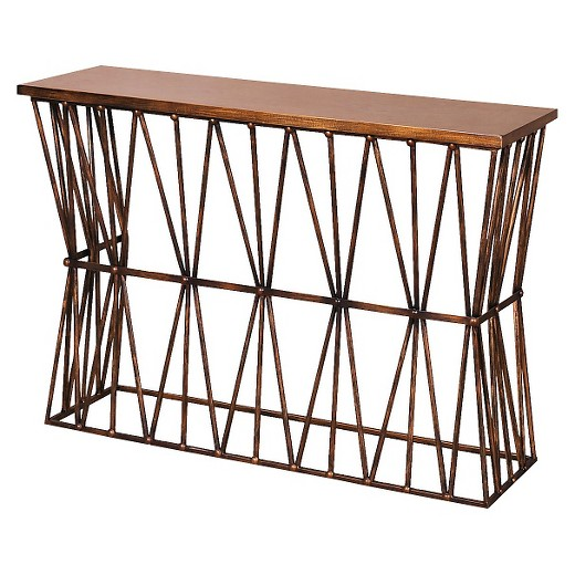StyleCraft Console Table in Antique Bronze