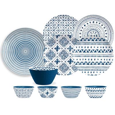 16 Piece Blue & White Dinnerware Set