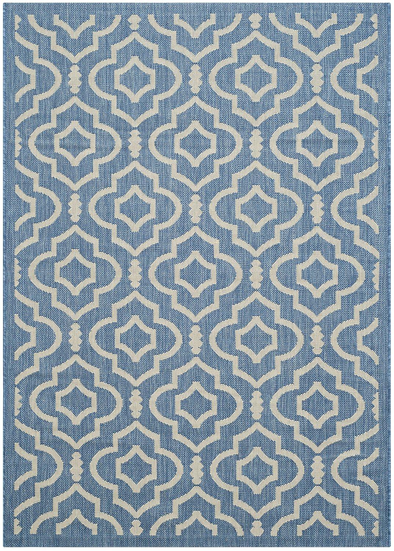 Safavieh Blue and Beige Indoor/ Outdoor Area Rug