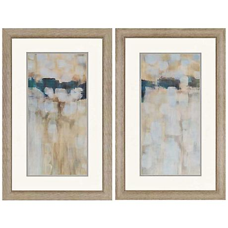 'Carbon Neutral' 2 Piece Framed Painting Print Set