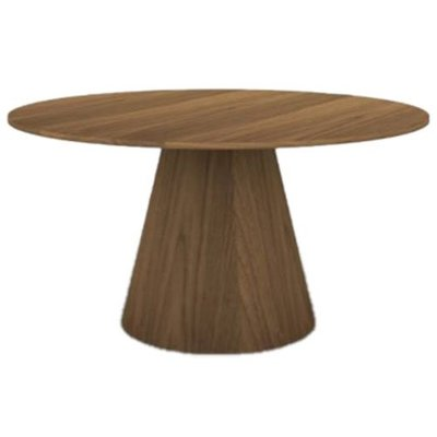 """Eurø Style Wesley 53.5"""" Dining Table in Walnut Finish"""