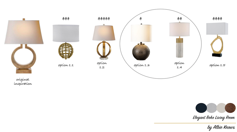 Elegant Boho Living Room Revisions | Table Lamps