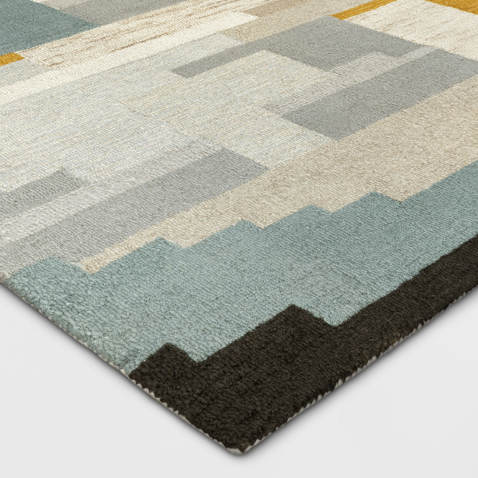 Multicolor Abstract Tufted Area Rug