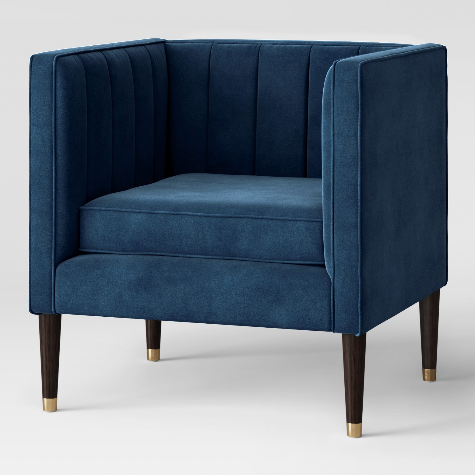 Soriano Square Arm Channel Tufted Chair