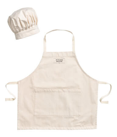 Kitchen Helper Apron and Chef's Hat