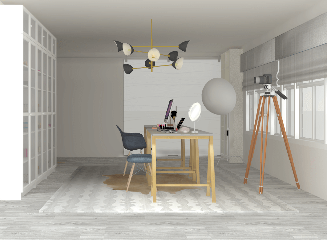 Casual Glam Beauty Room & Home Office by Albie Knows