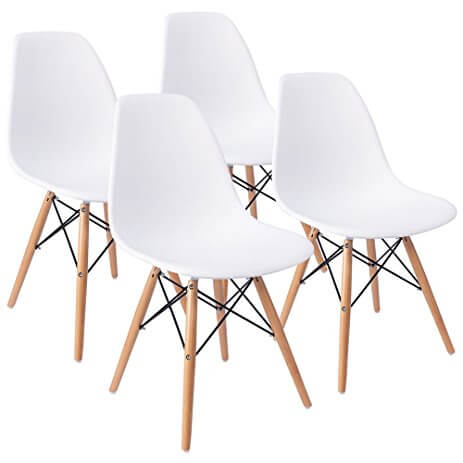 Eiffel DSW Style Mid Century Side Dining Chairs | Albie Knows 2017 Amazon Favorites