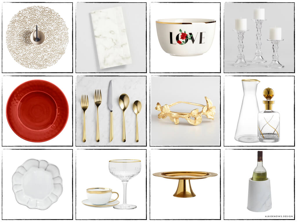 Albie Knows Romantic Candlelight Dinner Valentine's Day Tablescape