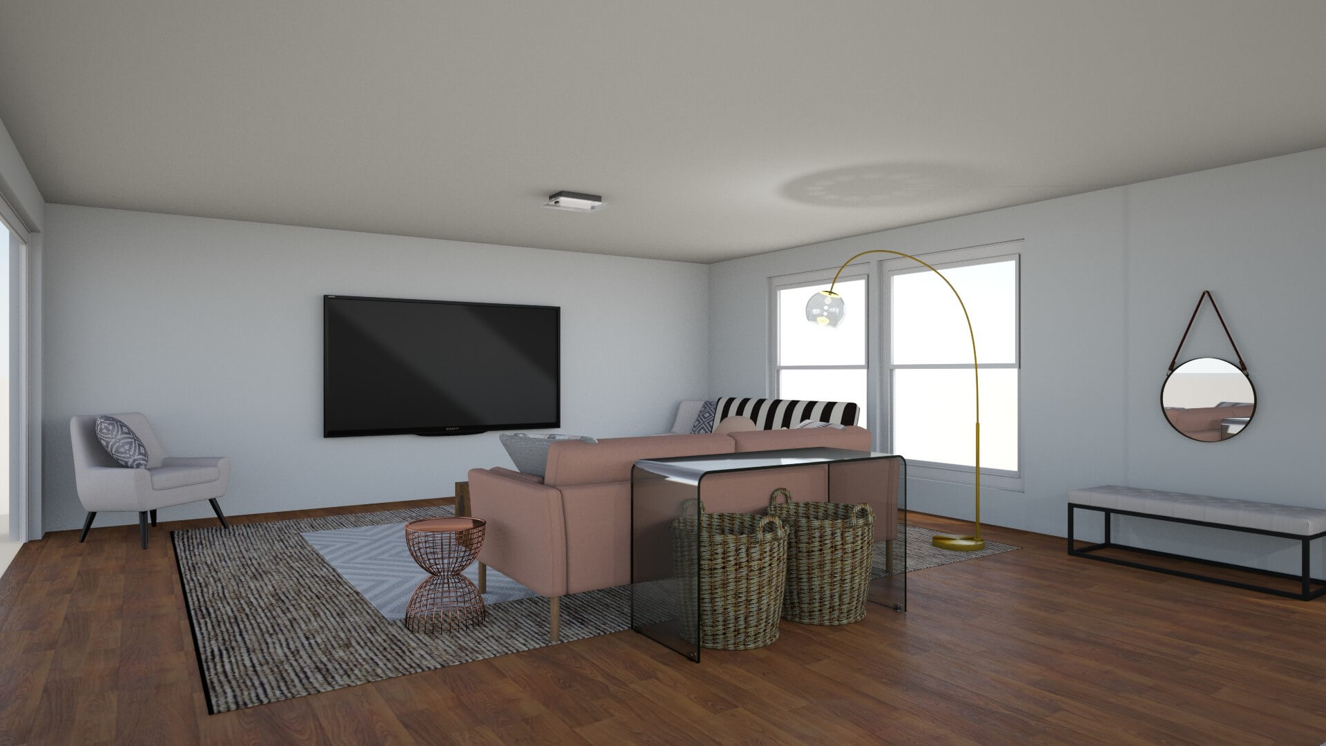 Option 2: Blush Sofa