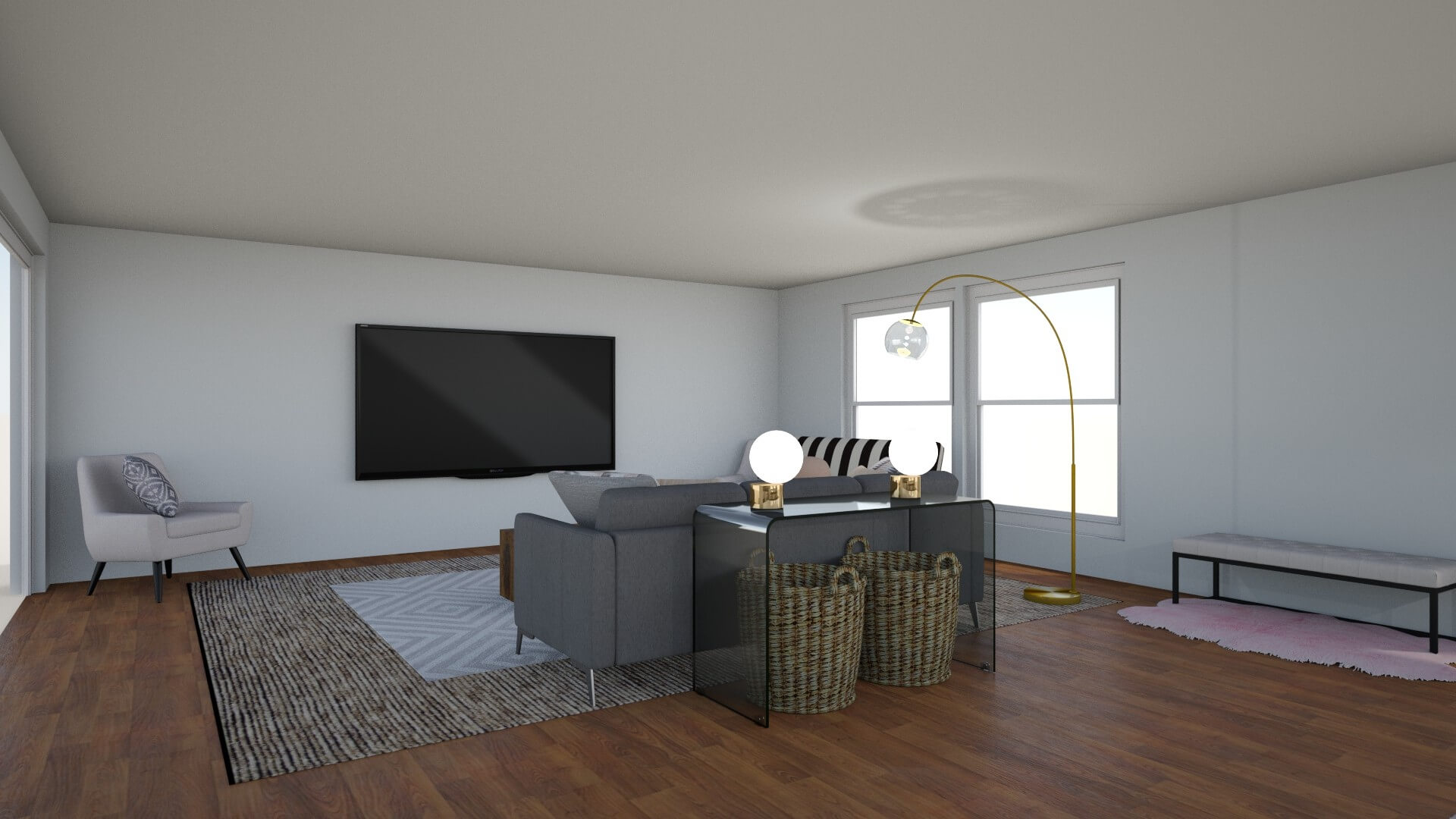 Option 1: Grey Sofa