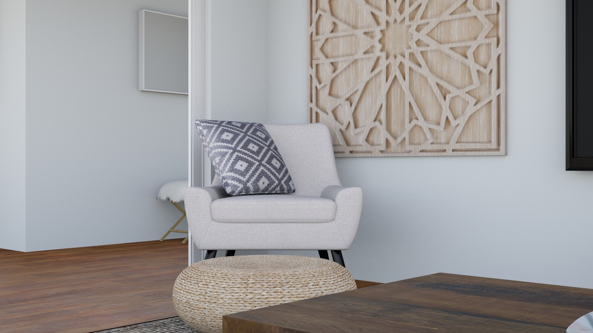 Sassy Charm Living Room Design by Albie Knows