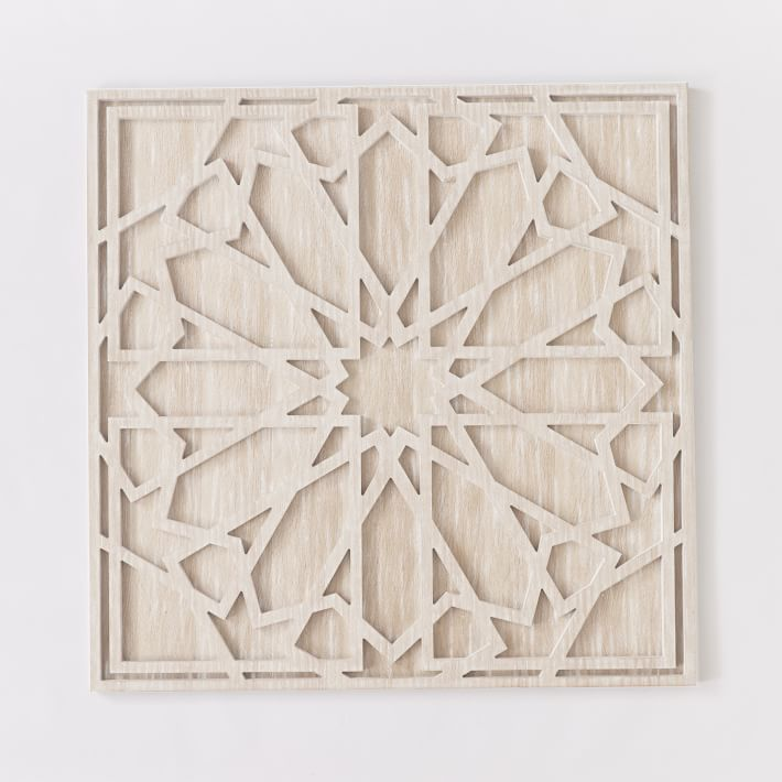 White Washed Wood Wall Art