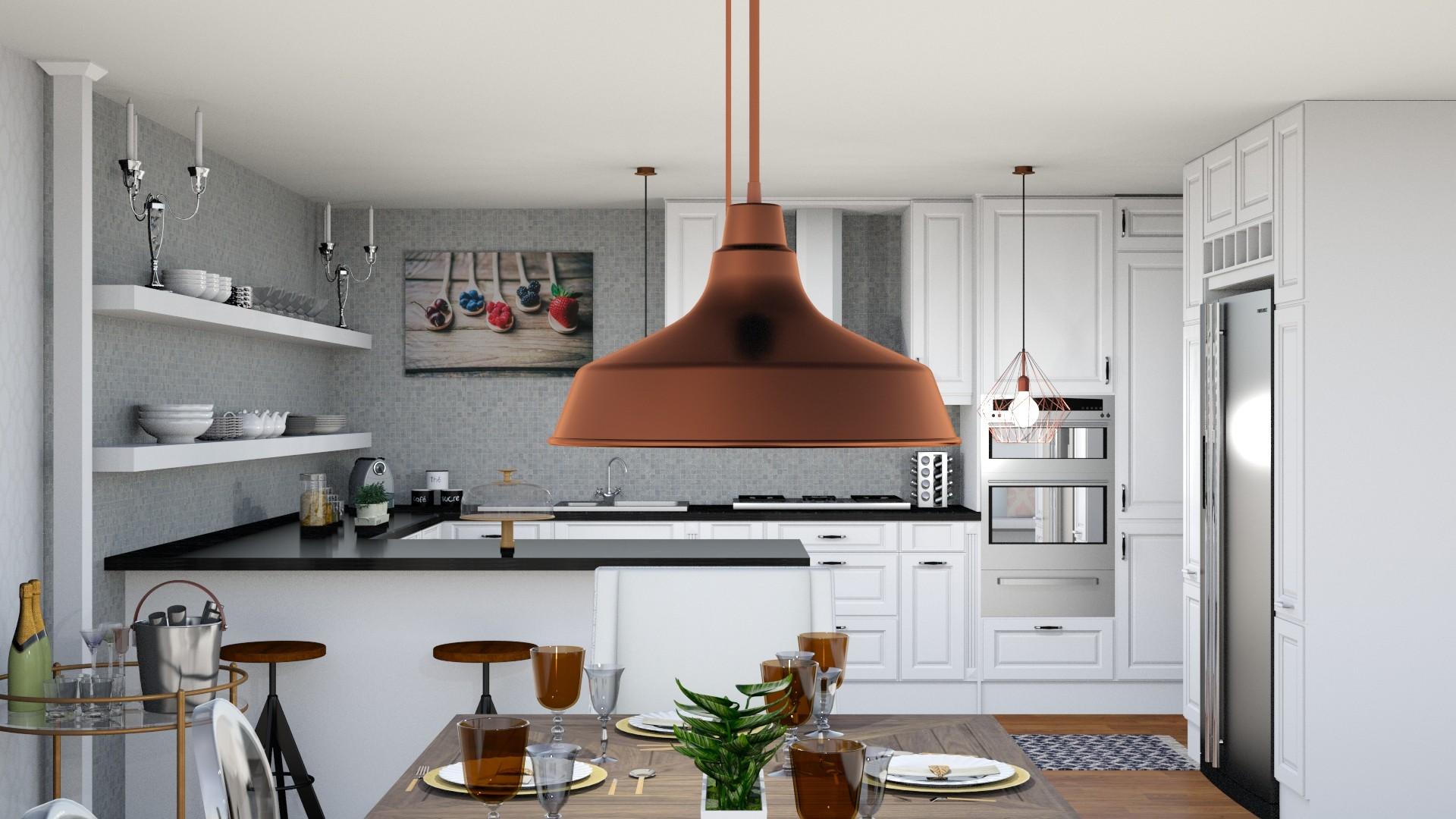 Sassy Charm L.A. Apartment by Albie Knows - Lighting Detail