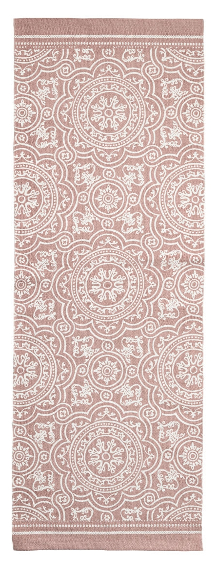 Albie Knows ORC -- Patterned Runner in Dusty Pink (H&M Home)