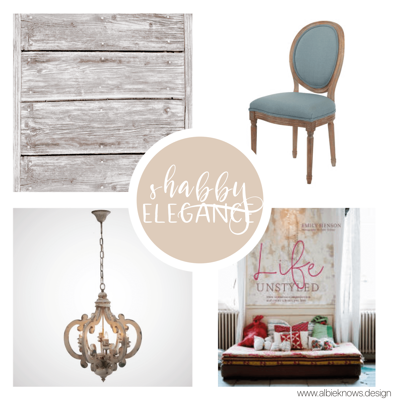 You appreciate a timeless, elegant, feminine look, that looks effortless, composed, and inviting. Shopping for your home means your salvaging beautiful vintage finds from flea markets & garage sales, and you're not afraid to do some whitewashing if you have to. You're budget conscious, which is perfect for your design style.    READ MORE