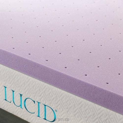 3 Inch Lavender Infused Memory Foam Mattress Topper