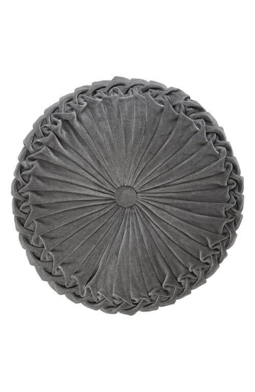 Round Velvet Accent Pillow
