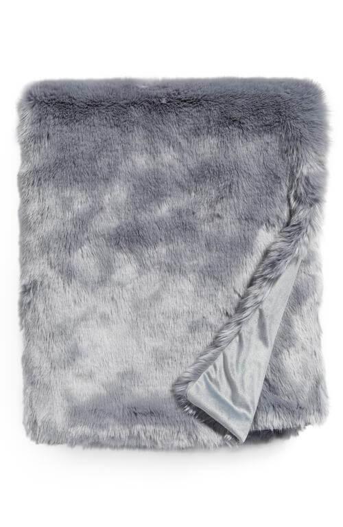 Cuddle Up Faux Fur Throw Blanket