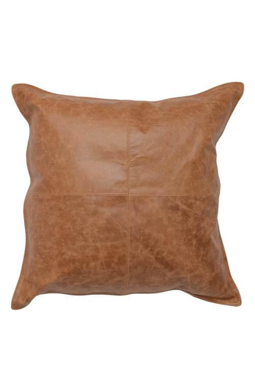 Dumont Leather Accent Pillow